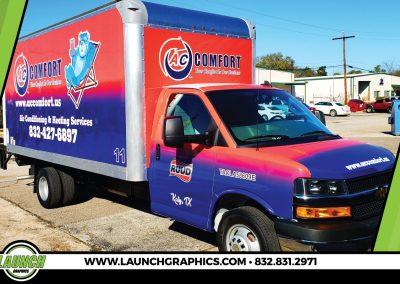 Launch Graphics Wraps Houston  AC-Comfort-Box-Truck-Wrap-2