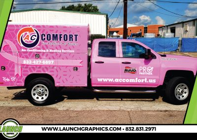 Launch Graphics Wraps Houston  AC-Comfort-Pink-RIbbon