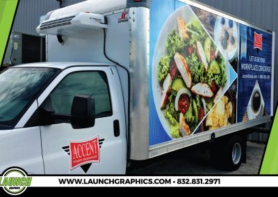 Launch Graphics Wraps Houston  Accent-Food-Services-Box-Truck