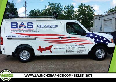 Launch Graphics Wraps Houston  BAS-Van