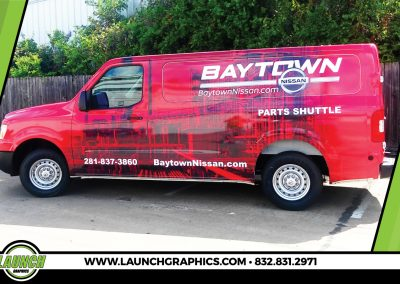 Launch Graphics Wraps Houston  Baytown-Nissan-Van-Side