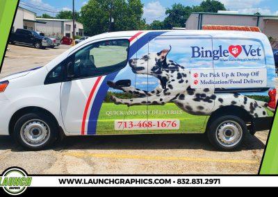 Launch Graphics Wraps Houston  Bingle-Vet
