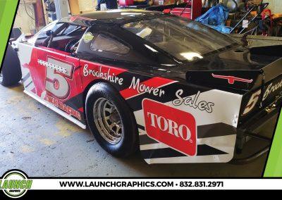 Launch Graphics Wraps Houston  Brookshire-Racecar