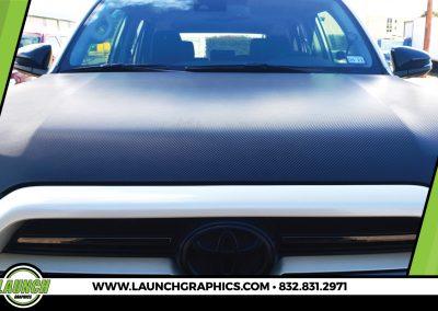 Launch Graphics Wraps Houston  Carbon-Fibre-Hood