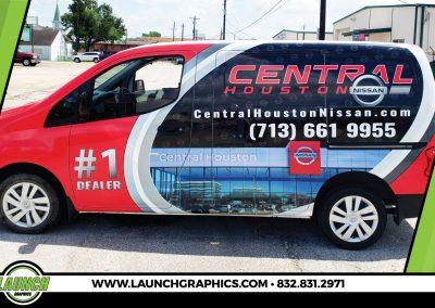 Launch Graphics Wraps Houston  Central-Houston-Nissan