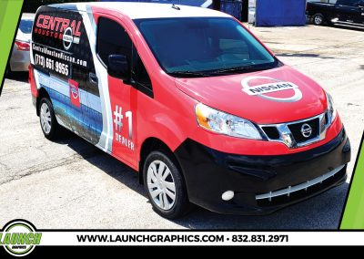 Launch Graphics Wraps Houston  Central-Houston-Nissan-2