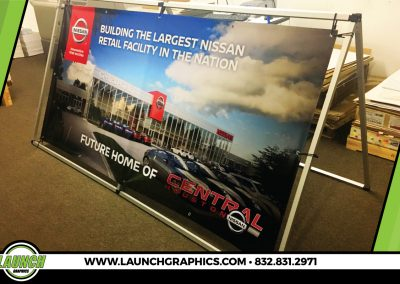 Launch Graphics Houston Central-Nissan-Banner