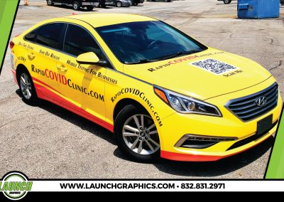 Launch Graphics Wraps Houston  Covid-Car