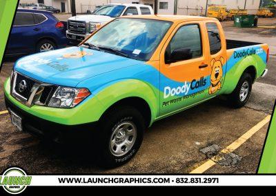 Launch Graphics Wraps Houston  Doody-Calls-Truck