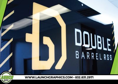 Launch Graphics Houston Double-Barrel-RSS-Wall-Sign