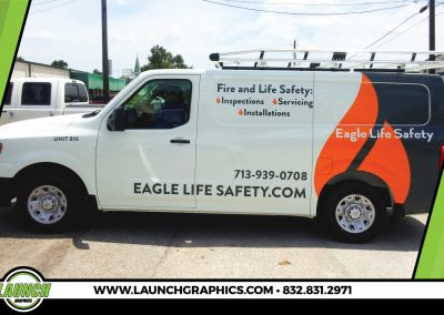 Launch Graphics Wraps Houston  Eagle-Life-Safety-Van-Large