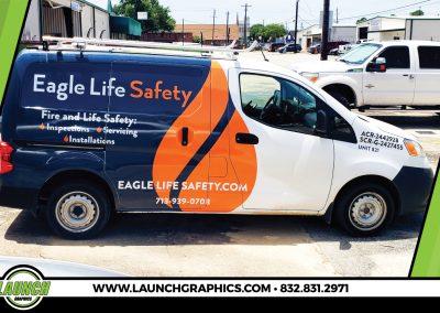 Launch Graphics Wraps Houston Eagle-Life-Van-Small