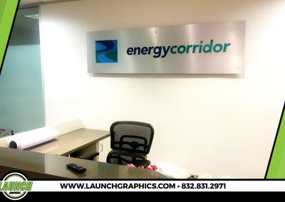 Launch Graphics Houston Energy-Corridor-Wall-Sign