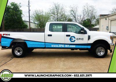 Launch Graphics Wraps Houston  Epic-Truck