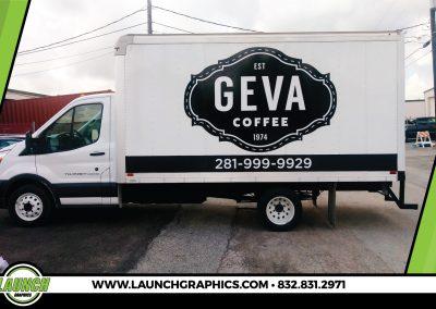 Launch Graphics Wraps Houston  Geva-Coffee-Box-Truck