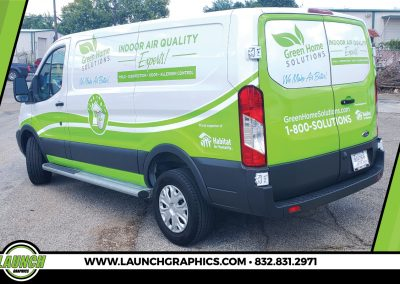 Launch Graphics Wraps Houston  Green-Home-Solutions-Van-Wrap