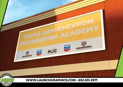 Launch Graphics Houston HCC-Building-Sign