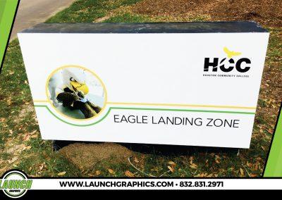 Launch Graphics Houston HCC-Monument-Sign