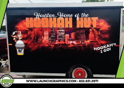 Launch Graphics Wraps Houston  Hookah-Hut