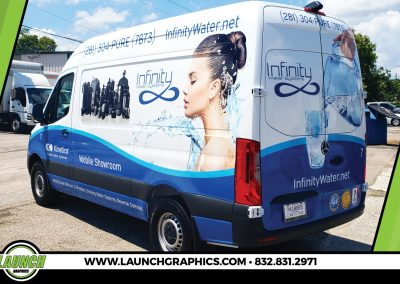 Launch Graphics Wraps Houston  Infinity-Water-Systems