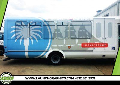 Launch Graphics Wraps Houston  Island-Transit-Bus