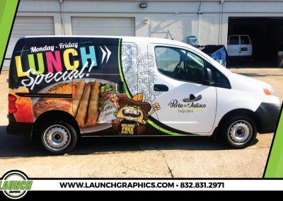Launch Graphics Wraps Houston  La-Perla-De-Jalisco-Van