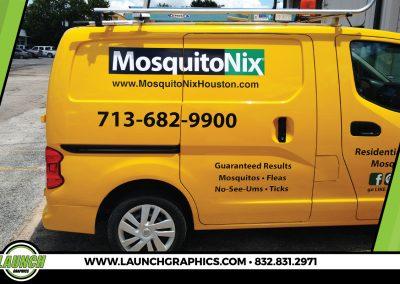 Launch Graphics Wraps Houston  Mosquito-Nix-Van