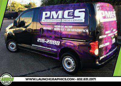 Launch Graphics Wraps Houston  PMCS-Van
