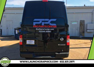 Launch Graphics Wraps Houston  PPC-Van