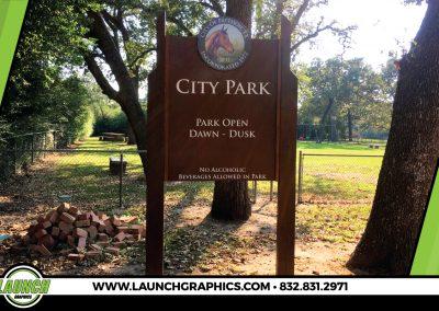 Launch Graphics Houston Pattison-Park-Sign