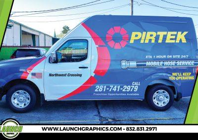 Launch Graphics Wraps Houston  Pirtek-Van-Wrap