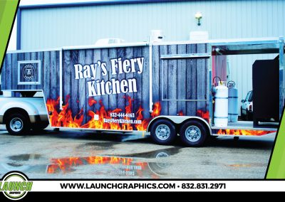 Launch Graphics Wraps Houston  Rays-Diery-Kitchen