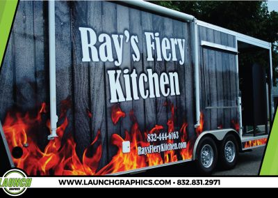Launch Graphics Wraps Houston  Rays-Fiery-Kitchen-Close