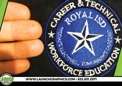 Launch Graphics Houston Royal-ISD-Embroidered-Patch