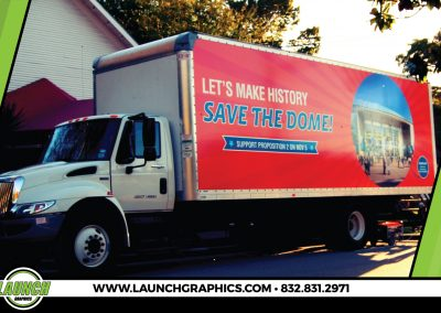 Launch Graphics Wraps Houston  Save-The-Dome-Box-Truck-2