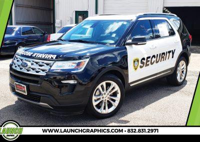 Launch Graphics Wraps Houston  Security