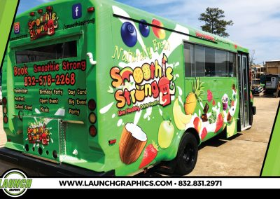 Launch Graphics Wraps Houston  Smoothie-Strong-Bus