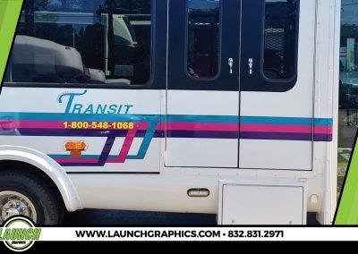 Launch Graphics Wraps Houston  Transit-Bus