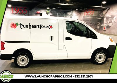 Launch Graphics Wraps Houston  True-Heat-Rose-Van