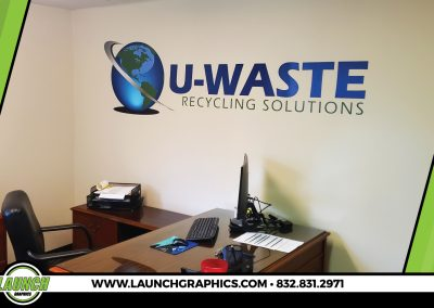 Launch Graphics Houston U-Waste-Wall-Graphic