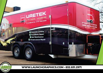 Launch Graphics Wraps Houston  Uretek-Trailer