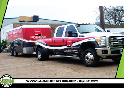 Launch Graphics Wraps Houston  Uretek-Truck-and-Trailer