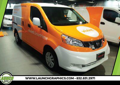 Launch Graphics Wraps Houston  Vivint-Van