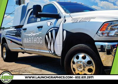 Launch Graphics Wraps Houston  Warthog-Transport