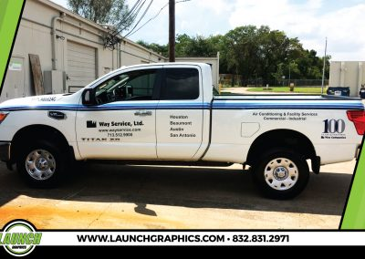 Launch Graphics Wraps Houston  Way-Service-Truck