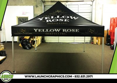 Launch Graphics Houston Yellow-Rose-Pop-Up-Tent